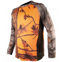 055 - Tee shirt manches longues camo orange