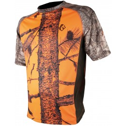 053F - Tee shirt spandex camo orange