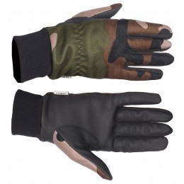 T1812 - Gloves softshell camo CE