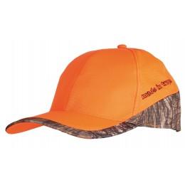 910 - Casquette orange / camouflage 3DX