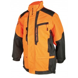 457K - Veste anti-ronce camo orange enfants