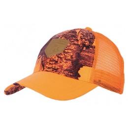 927 -Casquette maille camo orange