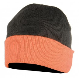 2464K - Bonnet enfant réversible orange