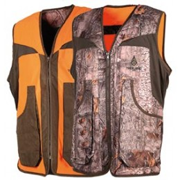 T610K - Gilet réversible enfant orange/camo forest
