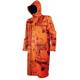 T427 - Manteau long camouflage orange