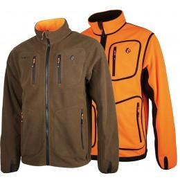 487 - Veste polar reverse orange/marron