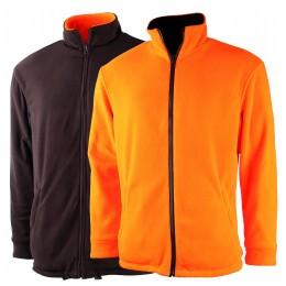 T401 - Blouson polaire réversible orange/vert