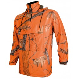 496 - Sweat polaire camouflage orange