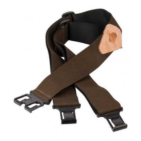 177M - Bretelles marrons accroche ceinture