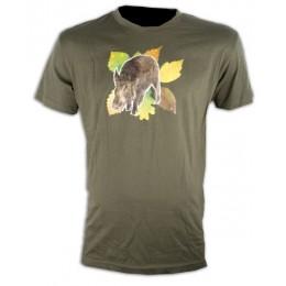 050K - Tee shirt sanglier feuilles