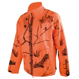 402 - Blouson polaire softshell camouflage orange