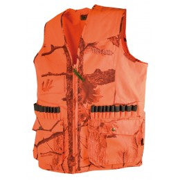 T251N - Gilet anti-ronce camouflage orange 600D