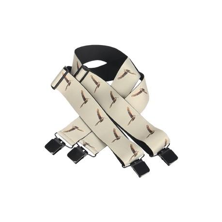 175N - Bretelles élastiques motif bécasse