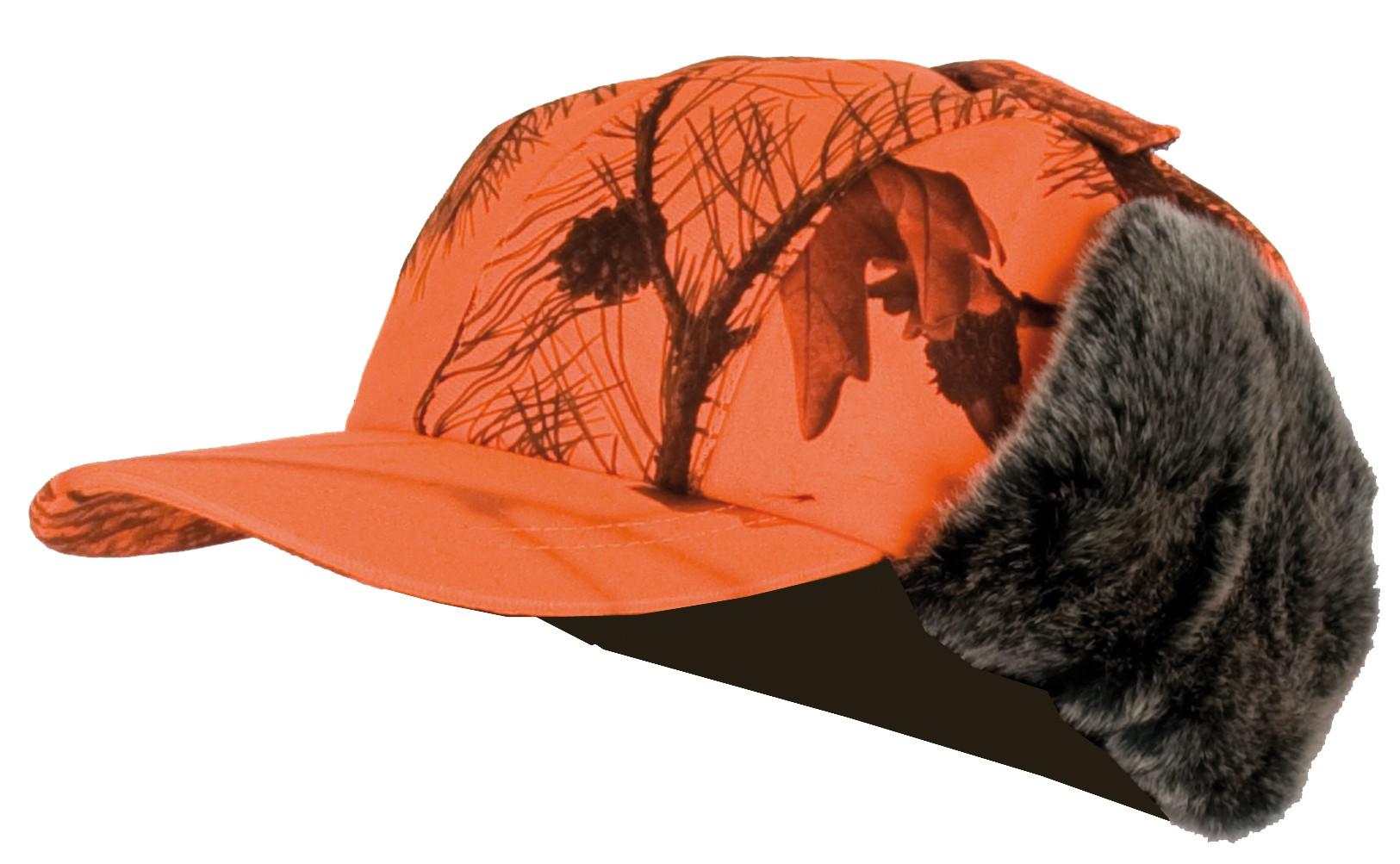 nouveau design Beau design bonne réputation 915 - Casquette avec cache oreilles fourrés camouflage orange - Somlys