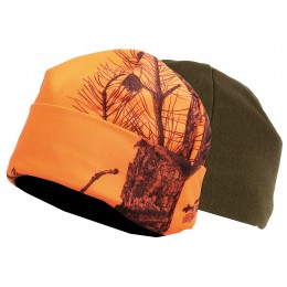 2467 - Bonnet réversible camouflage orange/vert