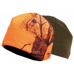 2467 - Bonnet réversible camouflage orange/vert