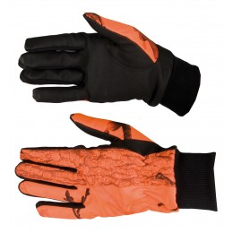 814 - gants softshell camouflage orange