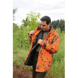 461 - Veste chaude imperméable camouflage orange