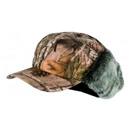 916 - Casquette avec cache-oreilles fourrés camouflage 3DX