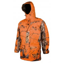 461L - Veste matelassée imperméable camouflage orange