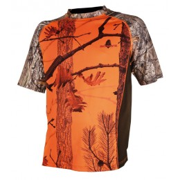 031FK - Tee-shirt camouflage orange enfant