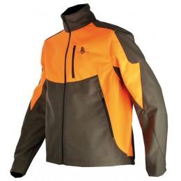 401 - Blouson softshell orange/vert
