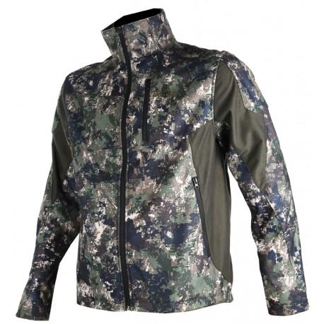 406 - Blouson softshell camouflage pixel vert