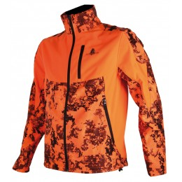 407 - Blouson softshell camo pixel orange