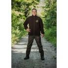 481 - Blouson polaire marron, broderie sanglier