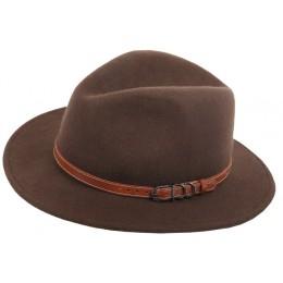 983 - Chapeau laine marron clair
