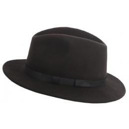 984 - Chapeau laine marron foncé