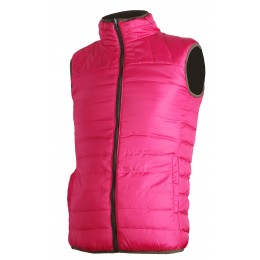 414 - Gilet matelassé rose/marron