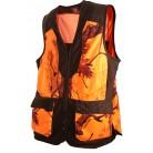 248 -Gilet camouflage orange/marron