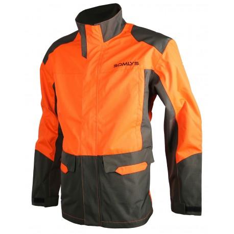 433 - Veste traque orange/vert
