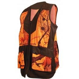 248LADY - Gilet femme camouflage orange