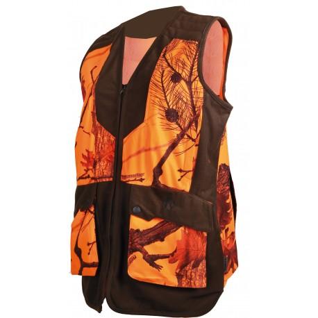 248ADY - Gilet femme camouflage orange