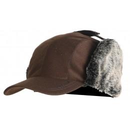 917 - Casquette avec cache-oreilles fourrés façon cuir
