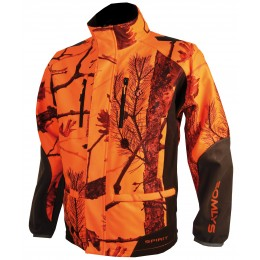 441N - Veste softshell camouflage orange
