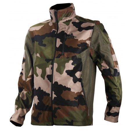 408 - Blouson softshell camouflage militaire CE