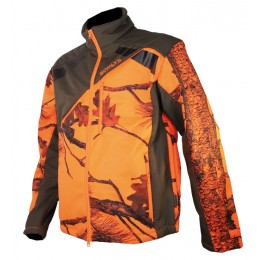 418K - Blouson softshell camo orange enfants
